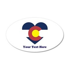 Colorado Flag Heart Personal Wall Decal