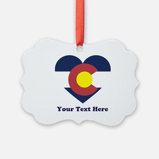 Colorado Flag Heart Personalized Ornament
