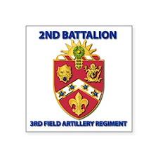 "T-Shirt - Army - 2nd Bn - 3 Square Sticker 3"" x 3"""