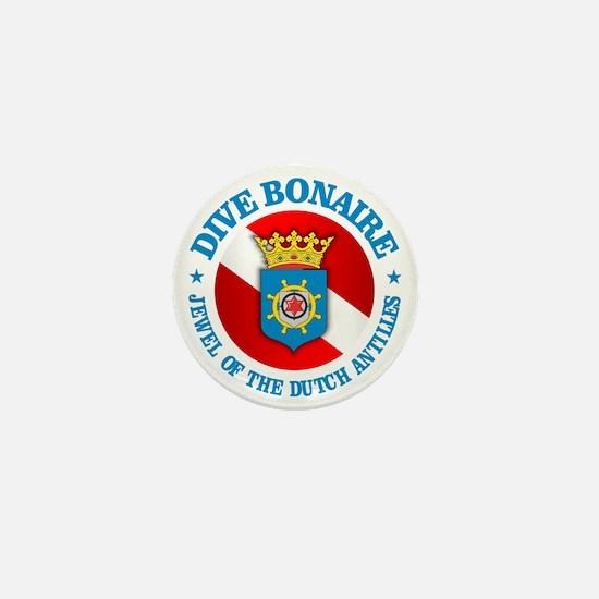 Dive Bonaire (rd) Mini Button