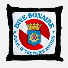 Dive Bonaire (rd) Throw Pillow