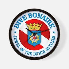 Dive Bonaire (rd) Wall Clock