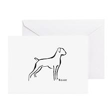 Boxer Dog Black ST Greeting Cards (Pk of 10)