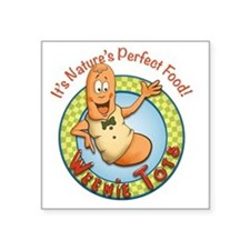 "Weenie Tots Square Sticker 3"" x 3"""