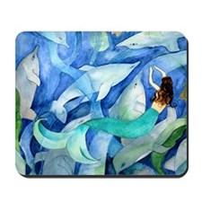 Dolphins and Mermaid party Mousepad
