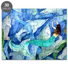 Dolphins and Mermaid party Puzzle