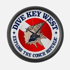 Dive Key West (rd) Large Wall Clock