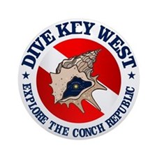 Dive Key West (rd) Round Ornament