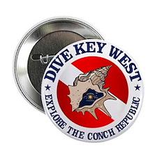 """Dive Key West (rd) 2.25"""" Button"""