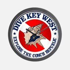 Dive Key West (rd) Wall Clock