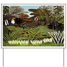 Exotic Landscape Yard Sign