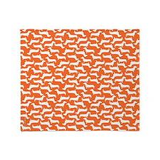 Cute Dachshund Pattern Throw Blanket