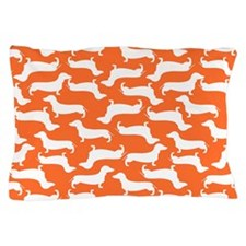 Cute Dachshund Pattern Pillow Case