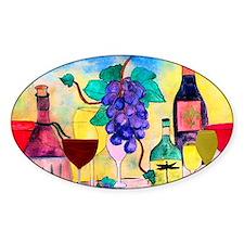 Grape Escape Wine Art Decal