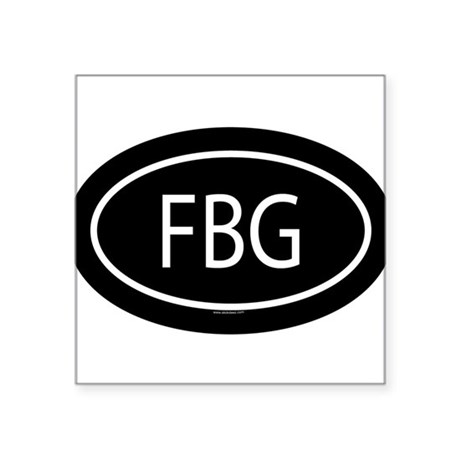 FBG Oval Sticker