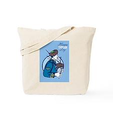 Happy Tartan Day Bagpiper Greeting Card Tote Bag