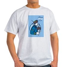 Happy Tartan Day Bagpiper Greeting Card T-Shirt
