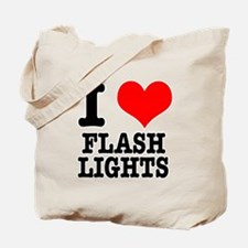 I Heart (Love) Flashlights Tote Bag