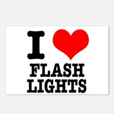 I Heart (Love) Flashlights Postcards (Package of 8