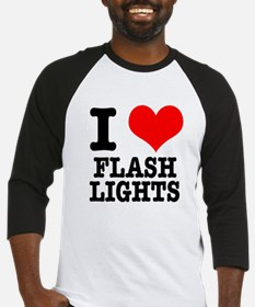 I Heart (Love) Flashlights Baseball Jersey