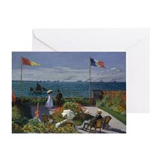 Jardin at Sainte Adresse Greeting Card