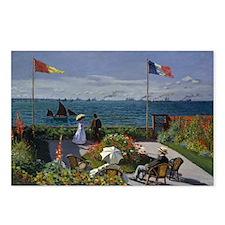 Jardin at Sainte Adresse Postcards (Package of 8)