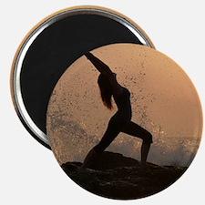Yoga Beach Warrior Magnet
