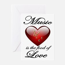 MUSIC LOVE Greeting Cards
