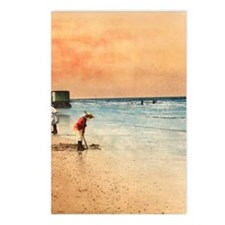 Day at the Beach Vintage  Postcards (Package of 8)