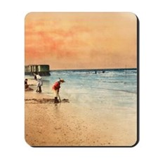 Day at the Beach Vintage Fine Art Mousepad