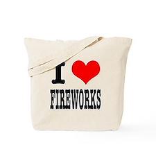 I Heart (Love) Fireworks Tote Bag