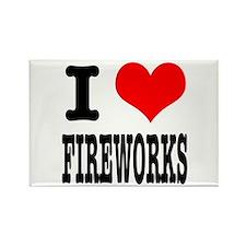 I Heart (Love) Fireworks Rectangle Magnet