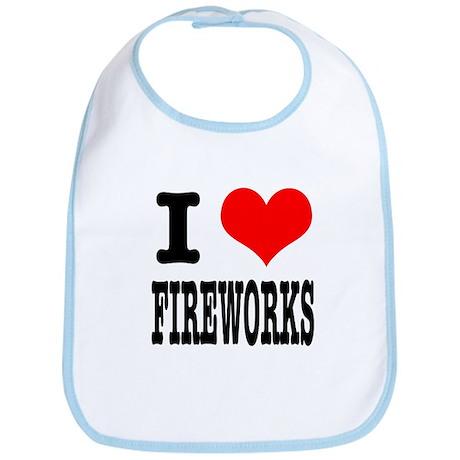 I Heart (Love) Fireworks Bib