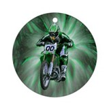 Dirt bike Round Ornaments