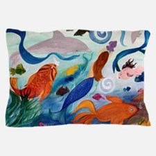 Mermaid  Tropical Fish party Pillow Case