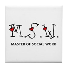 MSW Hearts (Design 2) Tile Coaster