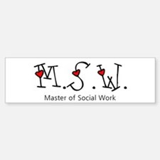 MSW Hearts (Design 2) Bumper Bumper Bumper Sticker