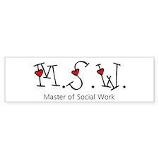 MSW Hearts (Design 2) Bumper Bumper Sticker