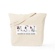 MSW Hearts (Design 2) Tote Bag