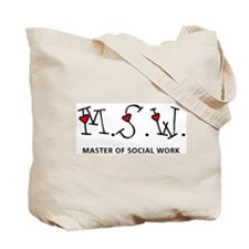 MSW Hearts (Design 2) Tote Bag