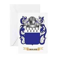 Koles Coat of Arms - Family Crest Greeting Card