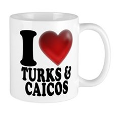I Heart Turks and Caicos Mugs