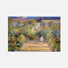 Artists Garden Rectangle Magnet
