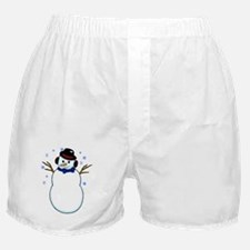 Snowman with Carrot Nose Hat and Snow Boxer Shorts