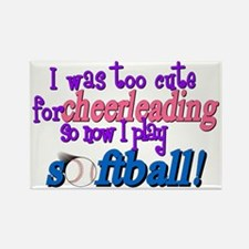 Too Cute For Cheerleadi Rectangle Magnet (10 pack)