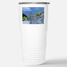 Beach Dune and Fence wi Travel Mug