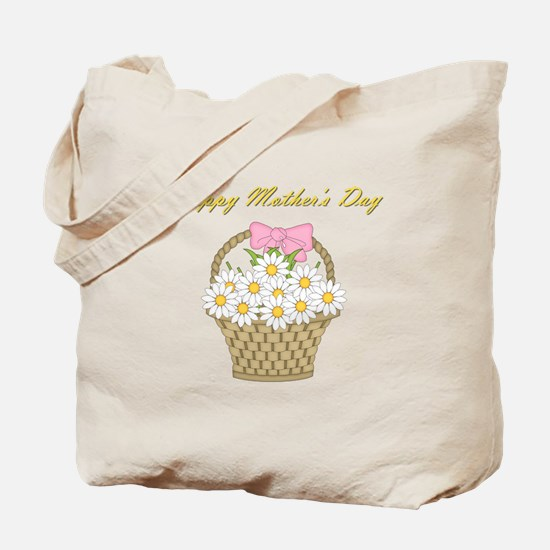 Happy Mother's Day (white daisies) Tote Bag