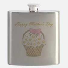 Happy Mother's Day (white daisies) Flask