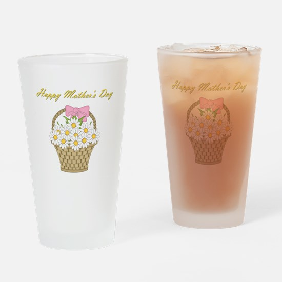 Happy Mother's Day (white daisies) Drinking Glass