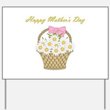 Happy Mother's Day (white daisies) Yard Sign